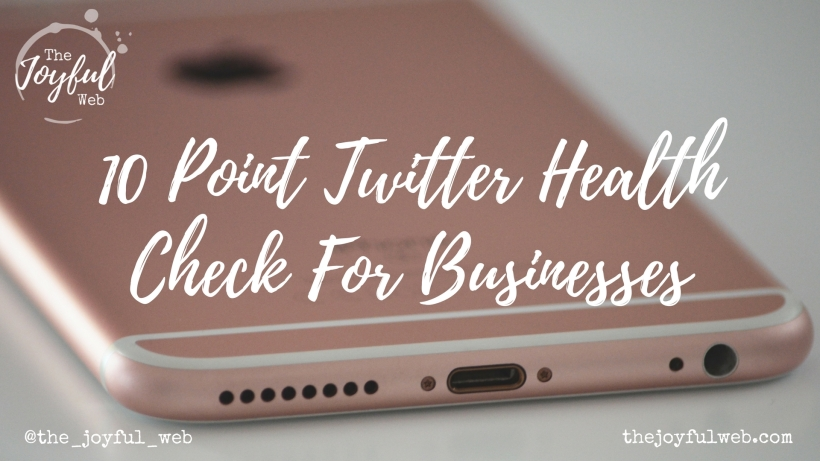 10 Point Twitter Health Check For Business Slide 1